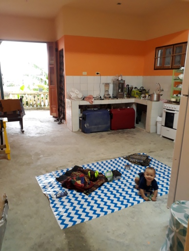 Vi har inget golv