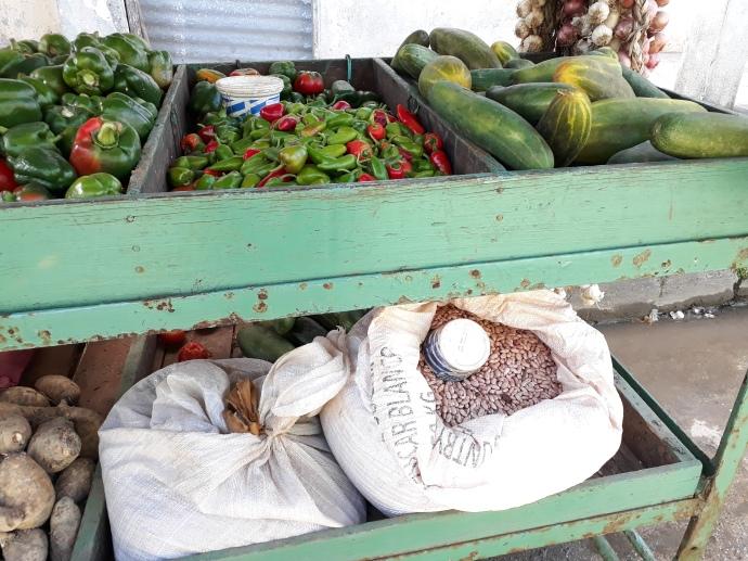 Grönsakskärra, även med bönor